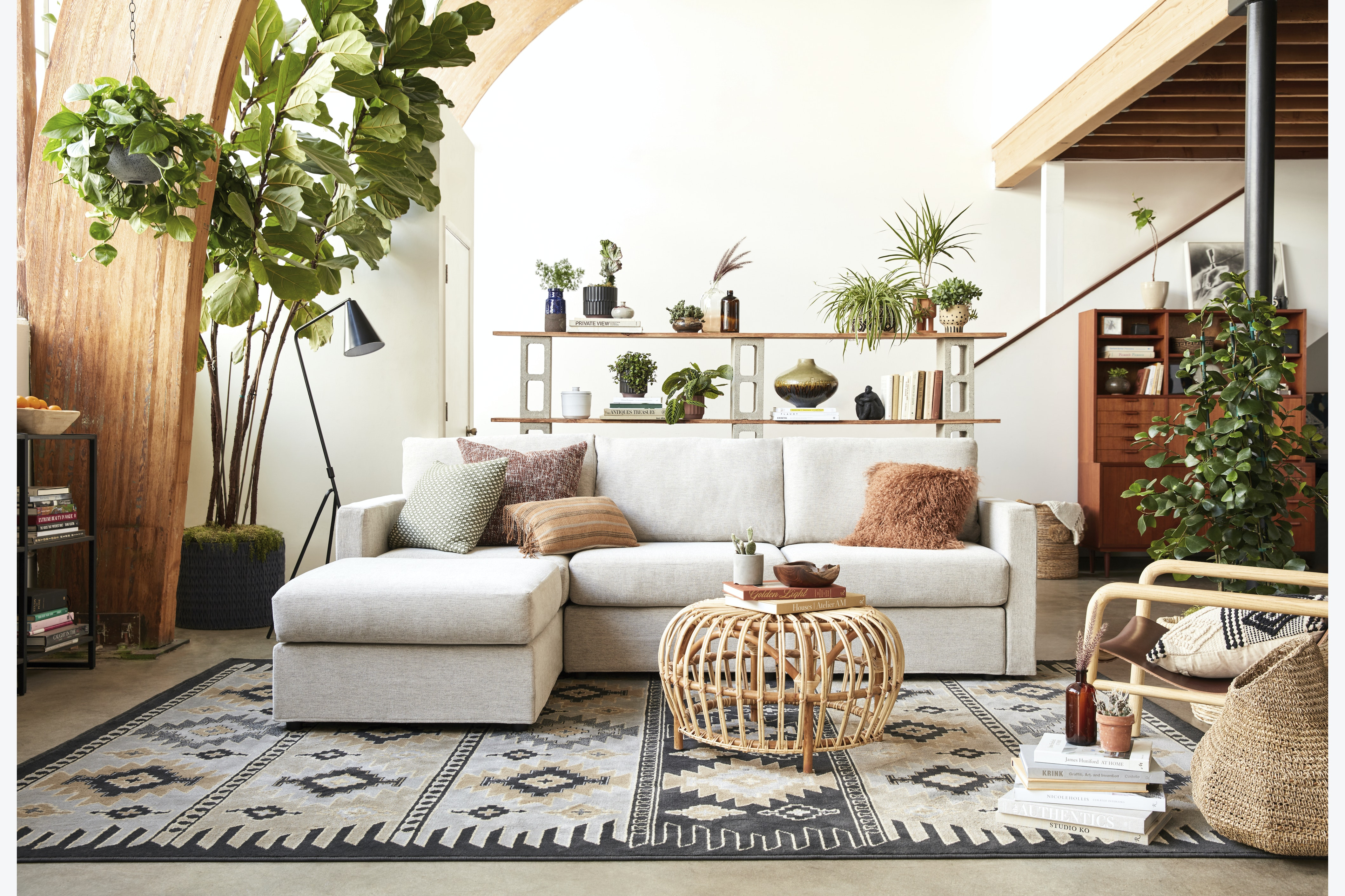 Notch 4pc Chaise Sectional Merit Dove