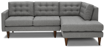 eliot apartment sectional with bumper taylor felt gray