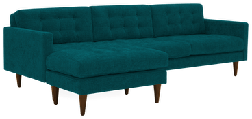eliot reversible sectional lucky turquoise