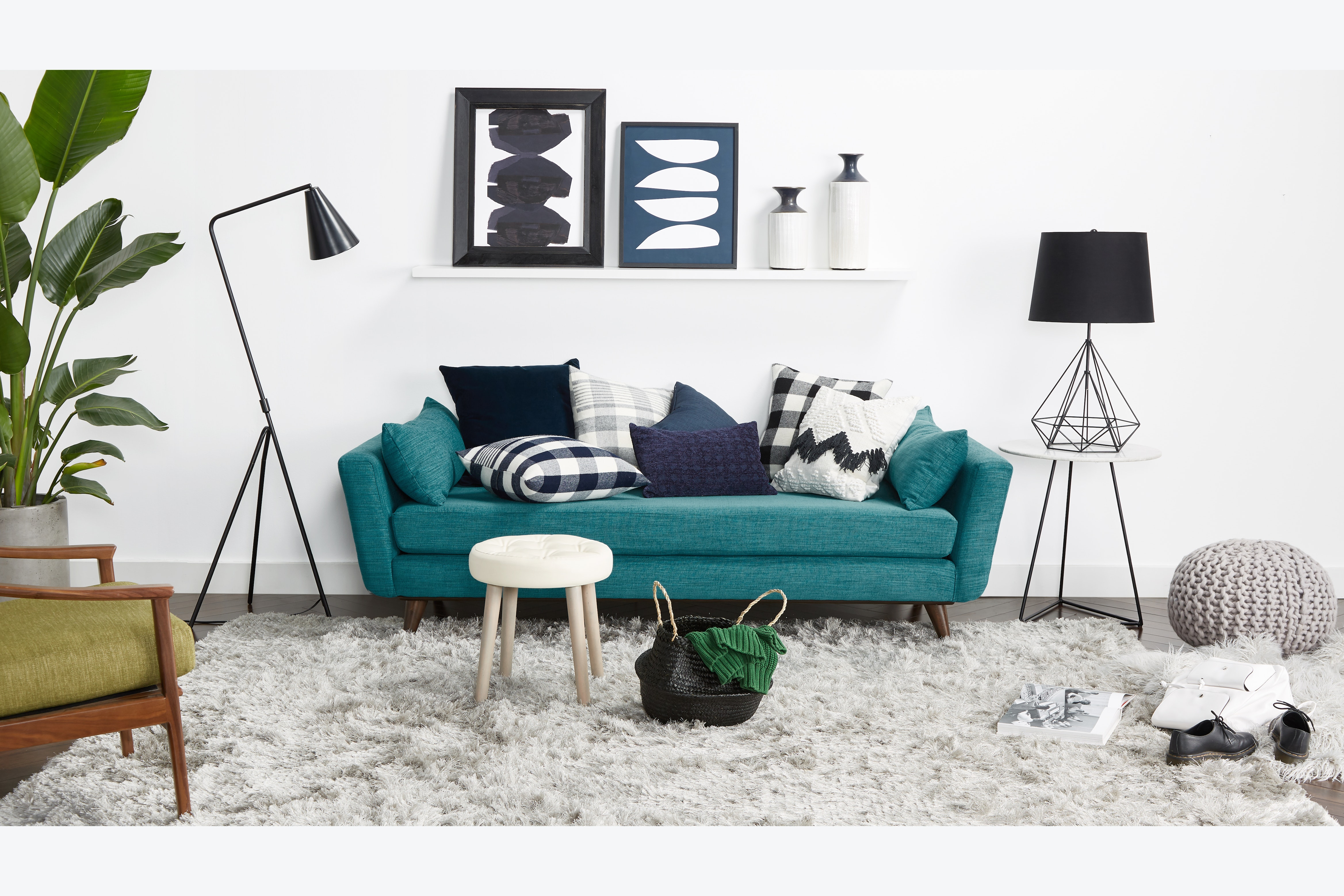 Hughes Daybed Lucky Turquoise