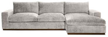 holt sectional with storage merit dove